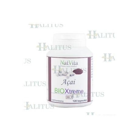 Jagody Acai BIOXtreme 20:1 ekstrakt liofilizowany 120 kapsułek
